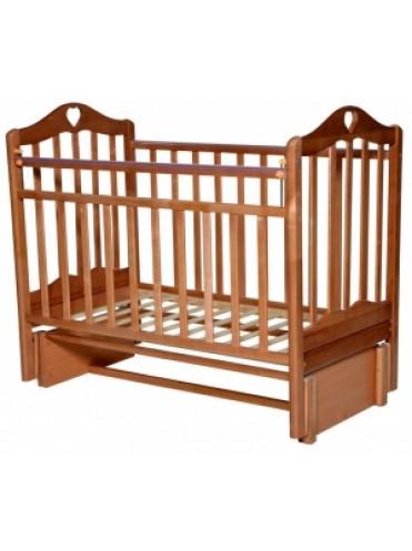 Детская деревянная кроватка Каролина-5 продольный маятник