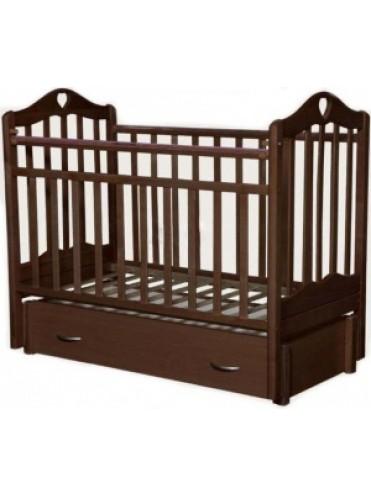 Детская деревянная кроватка Каролина-6 продольный маятник