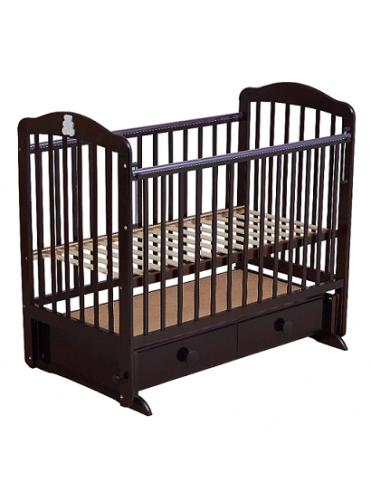 Детская деревянная кроватка BARNEY 3 (ящик+маятник)