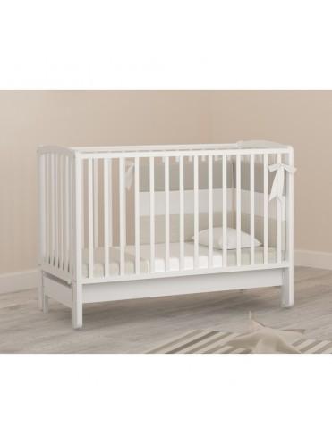 Детская деревянная кроватка Бьянка белый (продольный маятник)