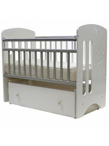 Детская деревянная кроватка Каролина (ящик+поперечный маятник)