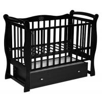 Детская деревянная кроватка Северянка-1 (маятник поперечный), закрытый ящик