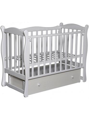 Детская деревянная кроватка Северянка-2 (маятник поперечный), закрытый ящик