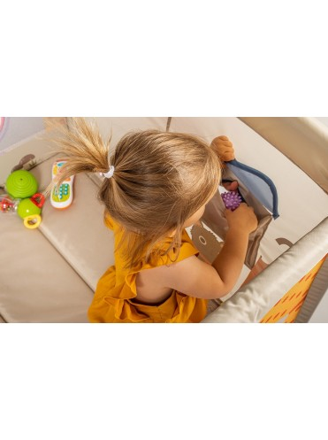 Манеж детский Happy Baby ALEX Home с лампой