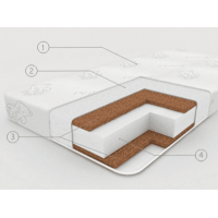 "Матрас в кроватку Plytex ""EcoSoft"" кокос 1,19х0,6х0,12 м"
