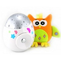 Игрушка-проектор звездного неба COLIBRI с совой ROXY-KIDS