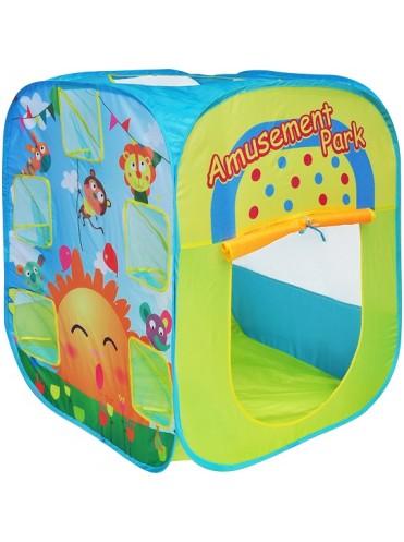 Детская палатка Дом + 100 шаров CHING-CHING Парк развлечений (квадрат)