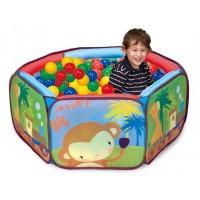 Детская палатка Дом + 100 шаров CALIDA Приключеия зверят