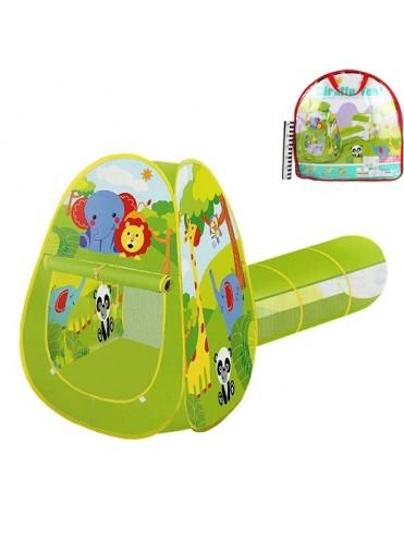 Домик игровой нейлон 2030C-1 с тоннелем в сумке