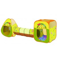 Палатка Дом + 100 шаров Ching-Ching Бабочки (конус+квадрат+туннель)