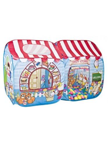 Детская палатка Дом + 100 шаров CHING-CHING Сладкий остров Макси