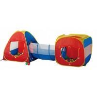 Игровой Домик + 100 шаров Calida Конус+тоннель+квадрат 629S