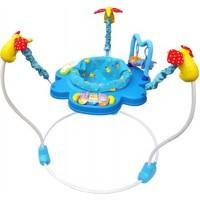 Прыгунки LA-DI-DA (игрушки+музыка) сиденье вращается на 360 градусов