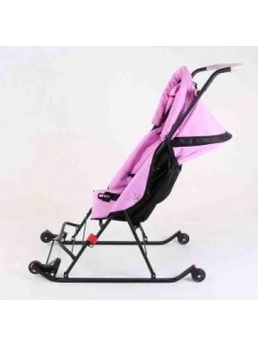 Санки-коляска ДЕМИ с меховым матрасиком и варежками