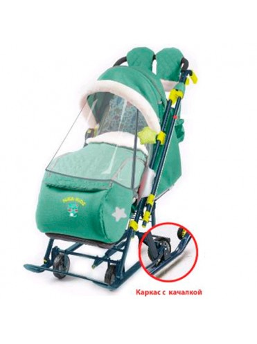 Санки-коляска комбинированная Ника Детям 7-7 с механизмом качания