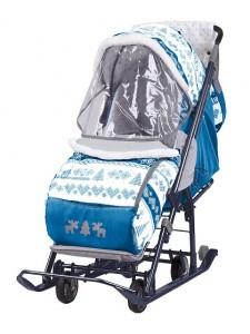 Санки-коляска Ника детям Наши детки с выкатанными колесами