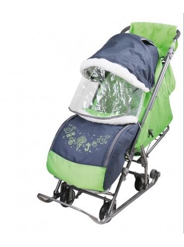 Санки коляска на 4 х выдвижных колесах Наши детки 4-1
