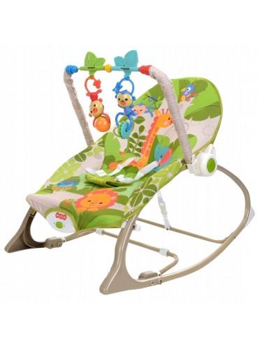Детский шезлонг-стульчик 3 в 1 с вибрацией до 18 кг