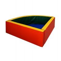 Сухой бассейн угловой, полукруглый (мягкое дно 50 мм)