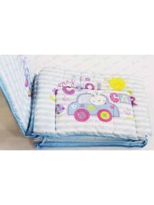 Бортики для детской кроватки Зайка в машине 10071