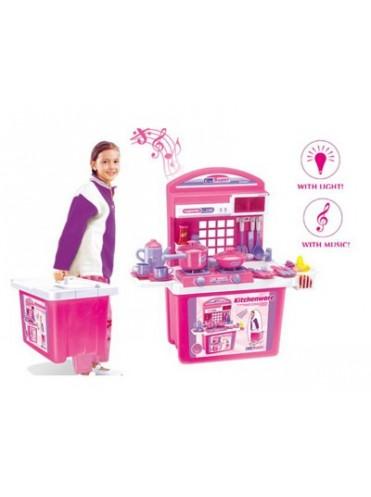 Игровой набор XIONG CHENG Кухня в чемодане 59008