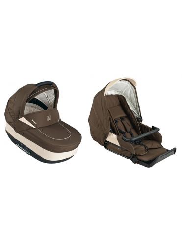 Коляска для новорожденных Jedo Memo Alu Plus JSE (ткань/кожа/велюр)