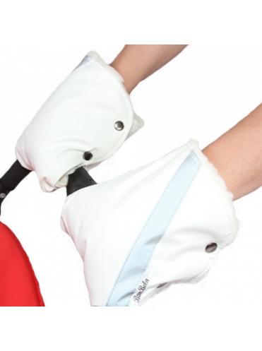 Муфты-варежки для коляски со сложными ручками BAMBOLA В255 кожа