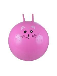 Надувной мяч-прыгун Киска 75 см + насос