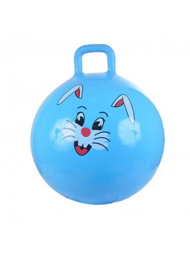 Надувной мяч-прыгун Зайчик 38 см + насос