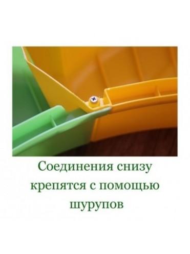 """Ограждение для игры с песком """"Ромашка"""" с тентом"""