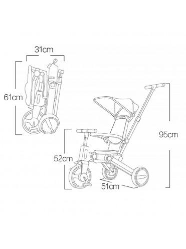 Детский велосипед складной с ручкой PITUSO Leve