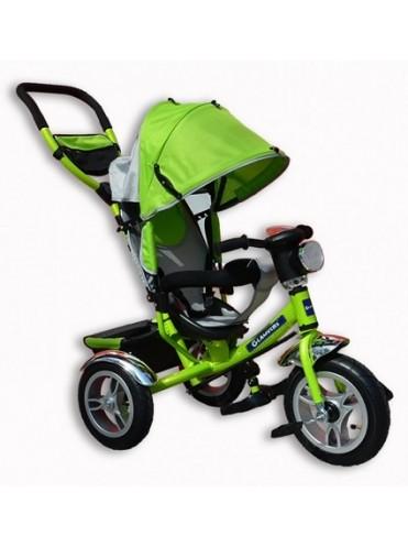 Велосипед трехколесный Tiger + фара (надувные колеса)